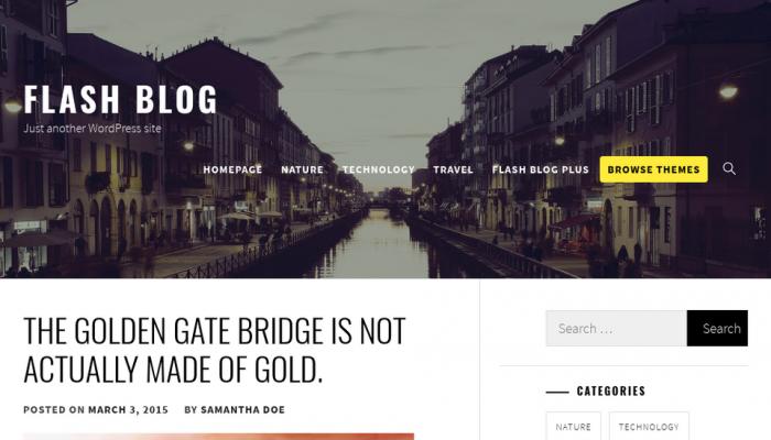 پیش نمایش دسکتاپ قالب وردپرس Flash Blog