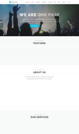 پیش نمایش موبایل قالب وردپرس OnePress
