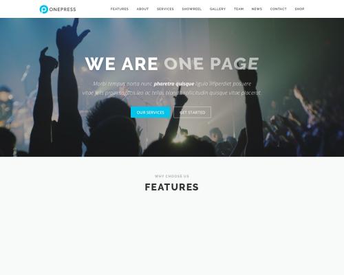 دانلود رایگان قالب وردپرس OnePress
