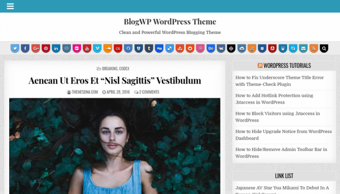 پیش نمایش دسکتاپ قالب وردپرس BlogWP