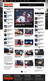 پیش نمایش موبایل قالب وردپرس Madd Magazine