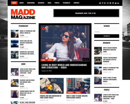 دانلود رایگان قالب وردپرس Madd Magazine