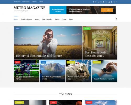 دانلود رایگان قالب وردپرس Metro Magazine