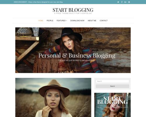 دانلود رایگان قالب وردپرس Start Blogging