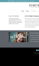 پیش نمایش موبایل قالب وردپرس Start Blogging