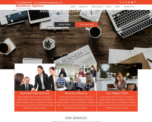 دانلود رایگان قالب وردپرس Business Agency