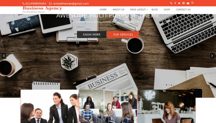 پیش نمایش دسکتاپ قالب وردپرس Business Agency
