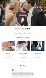 پیش نمایش موبایل قالب وردپرس Catch Wedding