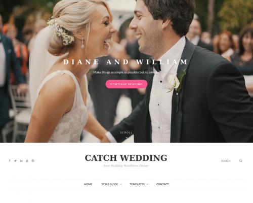 دانلود رایگان قالب وردپرس Catch Wedding