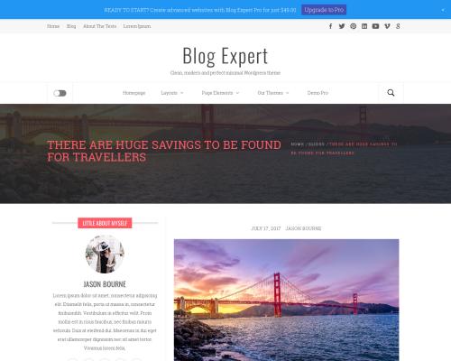 دانلود رایگان قالب وردپرس Blog Expert
