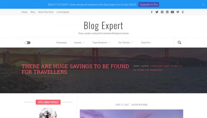 پیش نمایش دسکتاپ قالب وردپرس Blog Expert