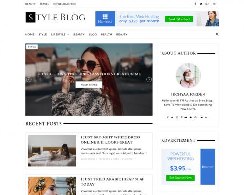 دانلود رایگان قالب وردپرس StyleBlog