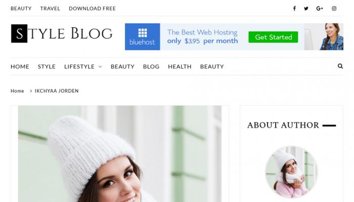 پیش نمایش دسکتاپ قالب وردپرس StyleBlog