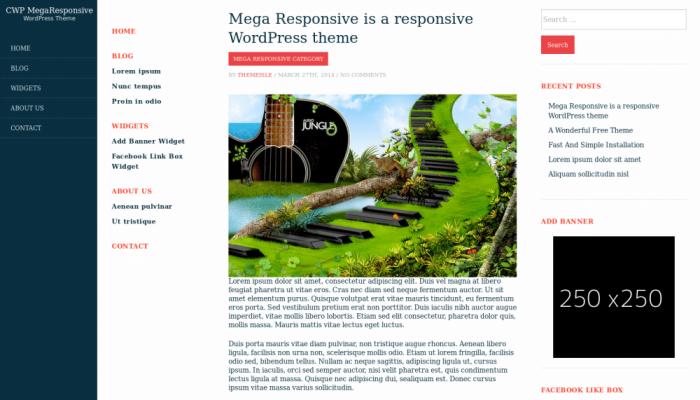 پیش نمایش دسکتاپ قالب وردپرس Mega Responsive