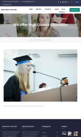 پیش نمایش موبایل قالب وردپرس Education Consultr