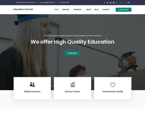 دانلود رایگان قالب وردپرس Education Consultr
