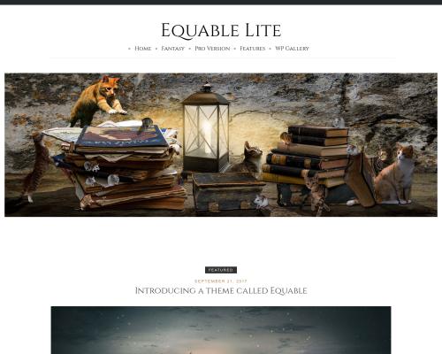 دانلود رایگان قالب وردپرس Equable Lite