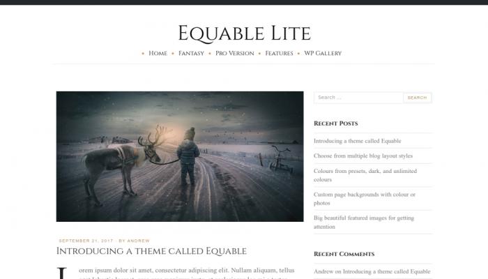 پیش نمایش دسکتاپ قالب وردپرس Equable Lite
