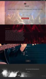 پیش نمایش موبایل قالب وردپرس MusicMacho