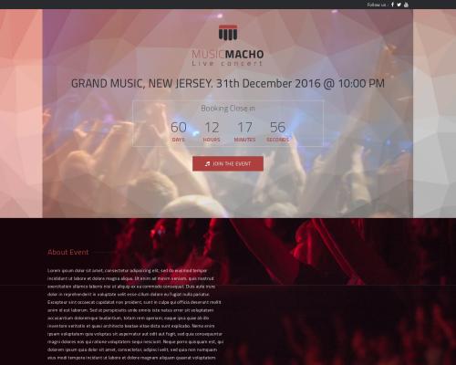 دانلود رایگان قالب وردپرس MusicMacho
