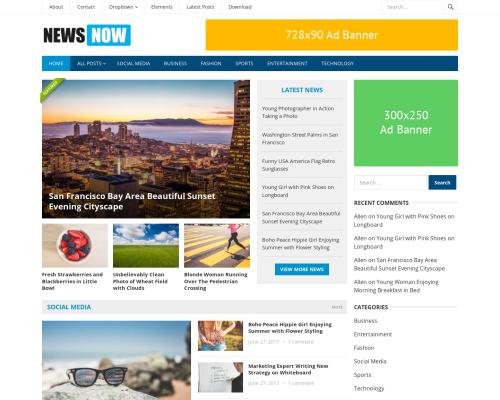 دانلود رایگان قالب وردپرس NewsNow