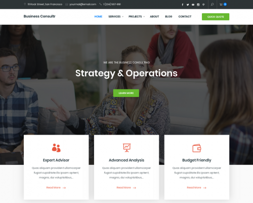 دانلود رایگان قالب وردپرس Business Consultr