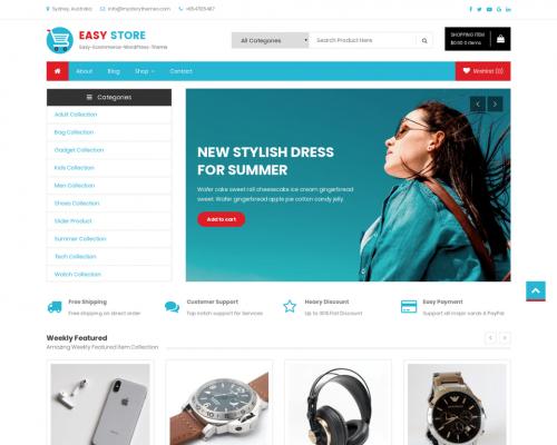 دانلود رایگان قالب وردپرس Easy Store