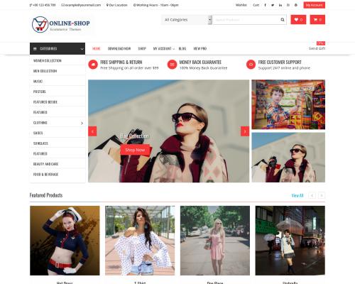 دانلود رایگان قالب وردپرس Online Shop