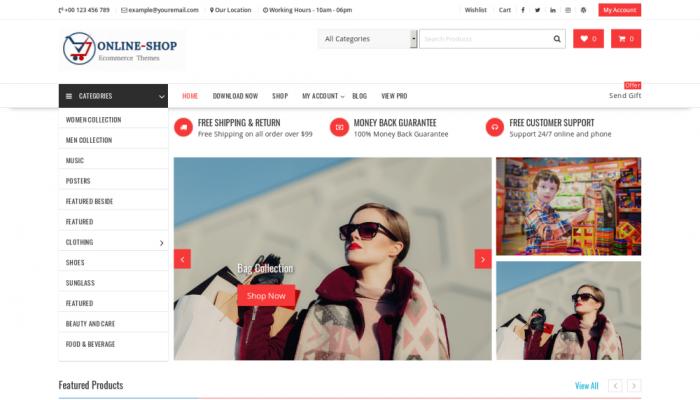پیش نمایش دسکتاپ قالب وردپرس Online Shop