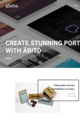 پیش نمایش موبایل قالب وردپرس Abito