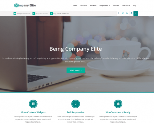 دانلود رایگان قالب وردپرس Company Elite