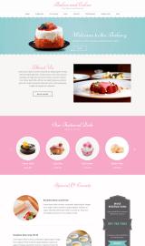 پیش نمایش موبایل قالب وردپرس Bakes and Cakes