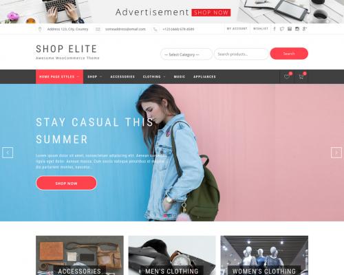 دانلود رایگان قالب وردپرس Shop Elite