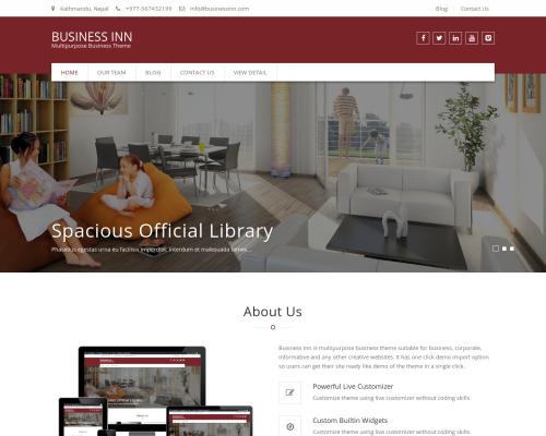 دانلود رایگان قالب وردپرس Business Inn
