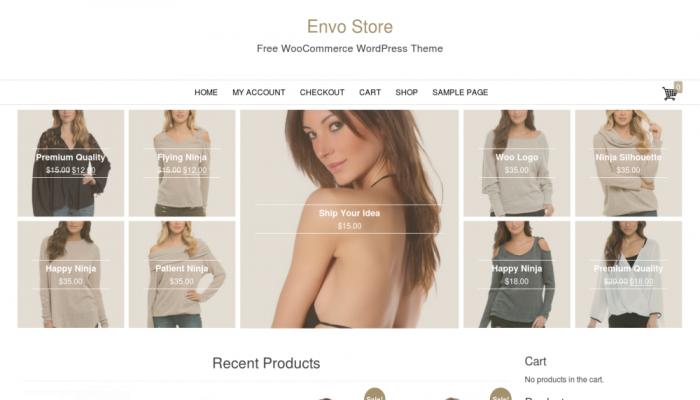 پیش نمایش دسکتاپ قالب وردپرس Envo Store