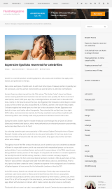 پیش نمایش موبایل قالب وردپرس Fluid Magazine