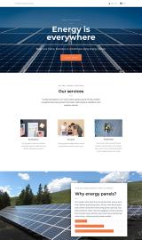 پیش نمایش موبایل قالب وردپرس Hestia Energy Panels