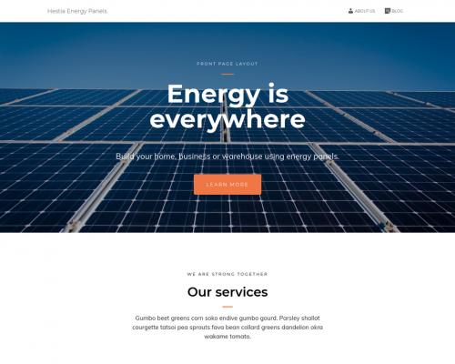دانلود رایگان قالب وردپرس Hestia Energy Panels