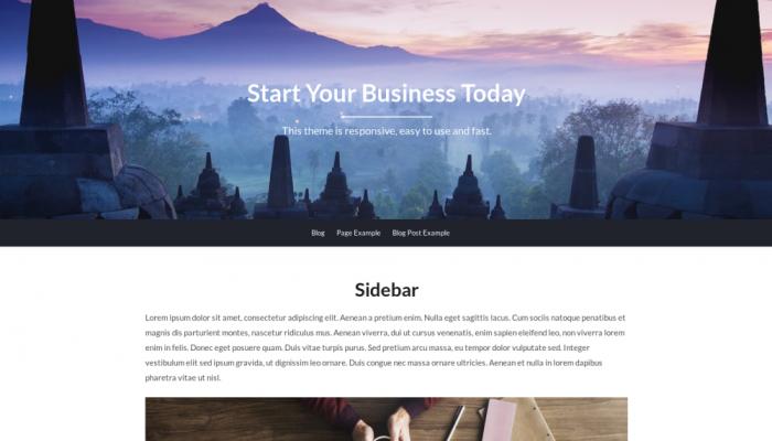پیش نمایش دسکتاپ قالب وردپرس BusinessBuilder