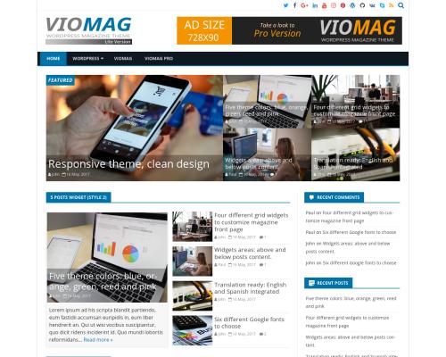 دانلود رایگان قالب وردپرس VioMag