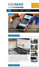 پیش نمایش موبایل قالب وردپرس VioMag