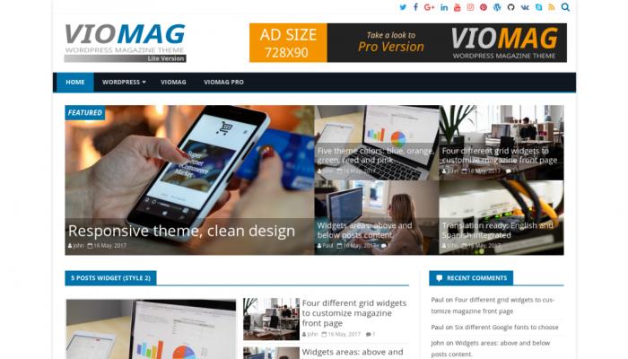 پیش نمایش دسکتاپ قالب وردپرس VioMag