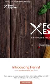 پیش نمایش موبایل قالب وردپرس Food Express