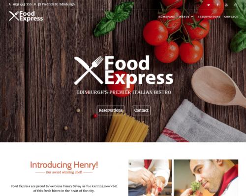 دانلود رایگان قالب وردپرس Food Express