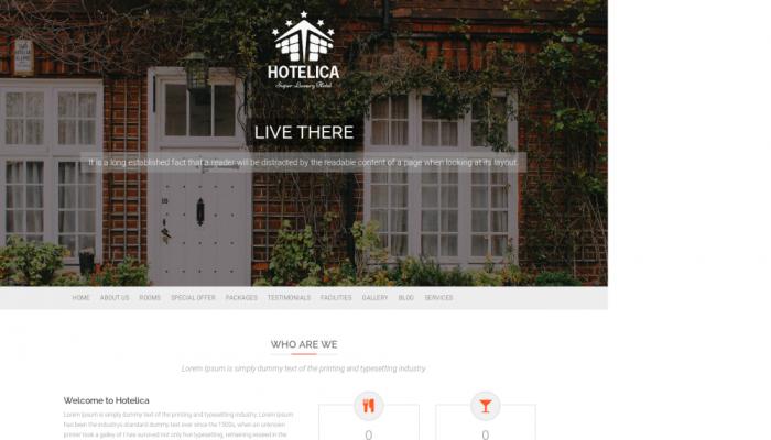 پیش نمایش دسکتاپ قالب وردپرس Hotelica Lite