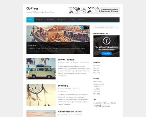 دانلود رایگان قالب وردپرس GoPress