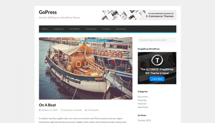 پیش نمایش دسکتاپ قالب وردپرس GoPress