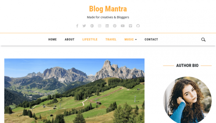 پیش نمایش دسکتاپ قالب وردپرس Blog Mantra