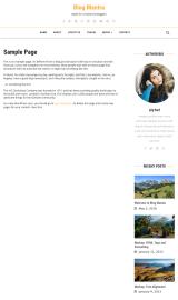 پیش نمایش موبایل قالب وردپرس Blog Mantra