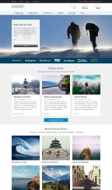 پیش نمایش موبایل قالب وردپرس Travel Diaries